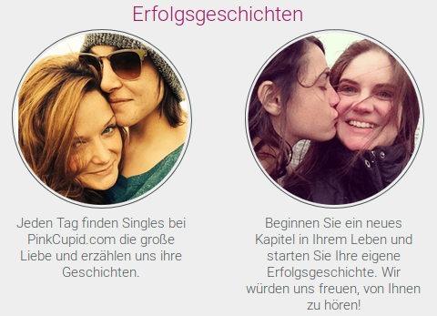 Erfahrungen und Meinungen von lesbischen Kunden, die ihre Erfahrungen mit PinkCupid teilen.