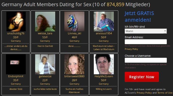 Finden Sie BDSM Singles und Paare um Sie herum : Erfahrungsbericht und bewertung über alt.com