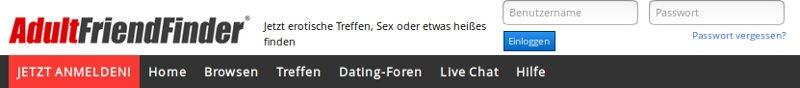 Registrierte Benutzer, die bereit sind, Sie heute auf AdultFriendFinder.com in Deutschland zu treffen
